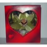 Орхидея в красной коробочке (от 100 до 199 шт.)
